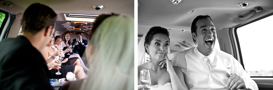 Montreal Wedding Photographer limo photos