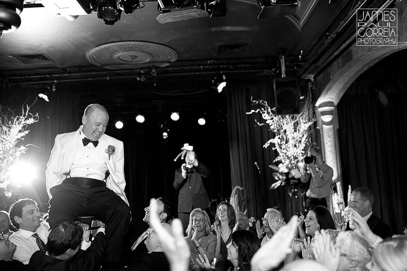 Lion d Or Montreal Wedding Photographer chair dance