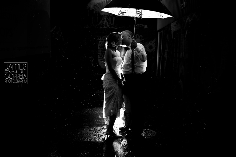 Montreal Wedding Photographer outdoor rain photography