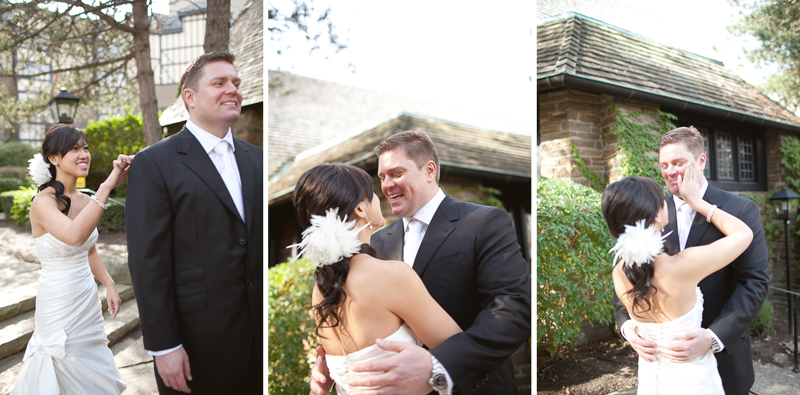 Old Mill Inn Toronto Wedding Photographer first look