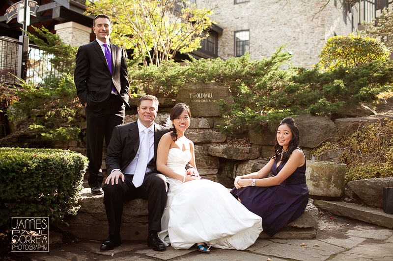 Old Mill Inn Toronto Wedding Photographer bridal party