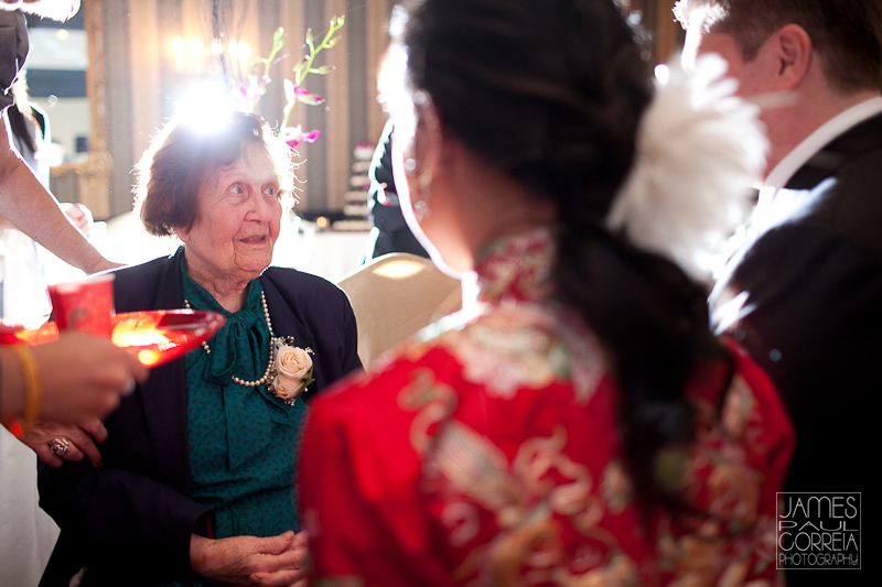 Toronto Wedding Photographer tea ceremony grandma
