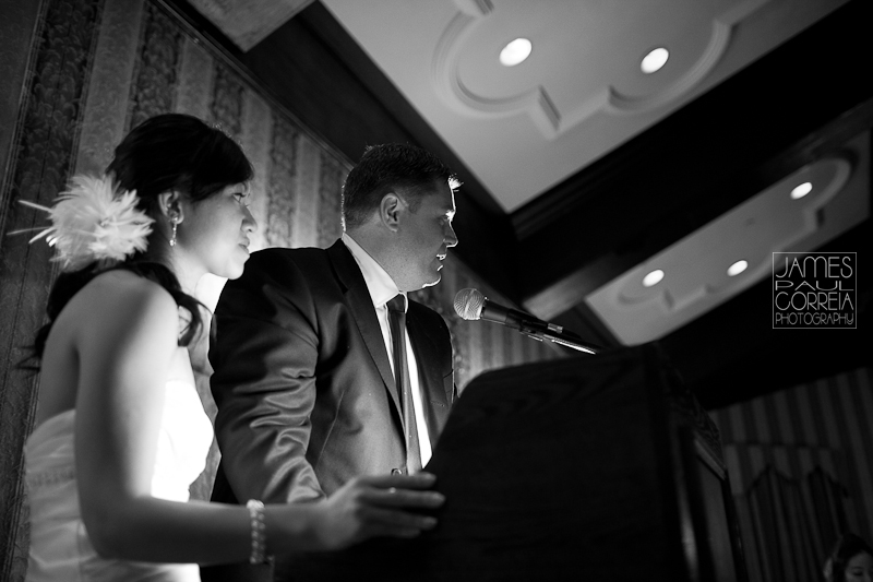 Old Mill Inn Toronto Wedding Photographer bride groom speech