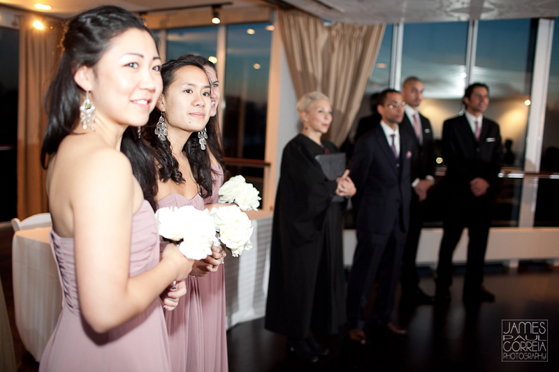 Atlantis Pavillions Toronto Wedding Photographer bridesmaids ceremony reaction
