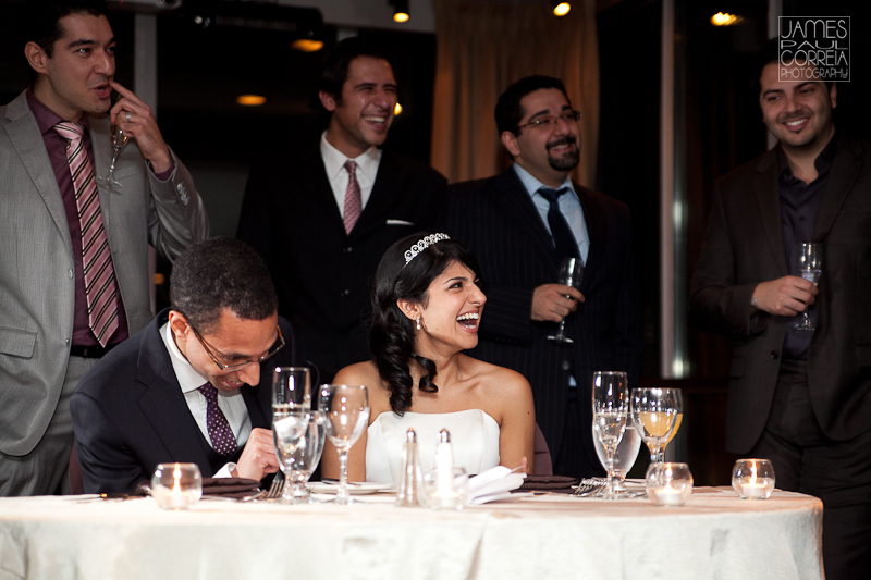 Atlantis Pavillions Toronto Wedding Photographer speech reaction