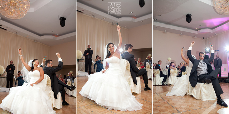 La Plaza Holiday Inn Montreal reception wedding photographer games