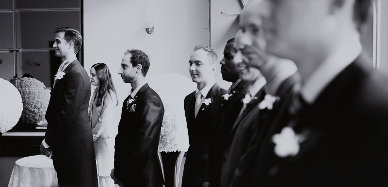 La Plaza Holiday Inn Montreal wedding photographer groom reaction