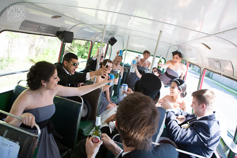 Ottawa double decker bus Wedding Photography