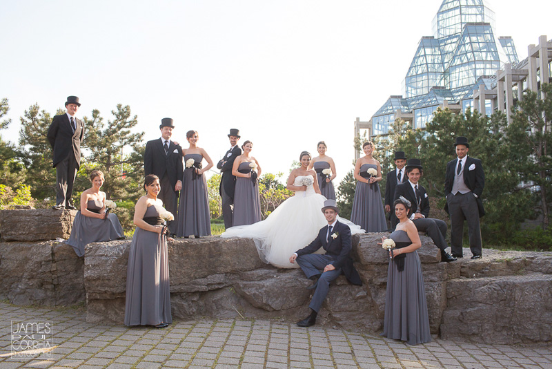 Ottawa National Art Gallery of Canada Wedding bridal party