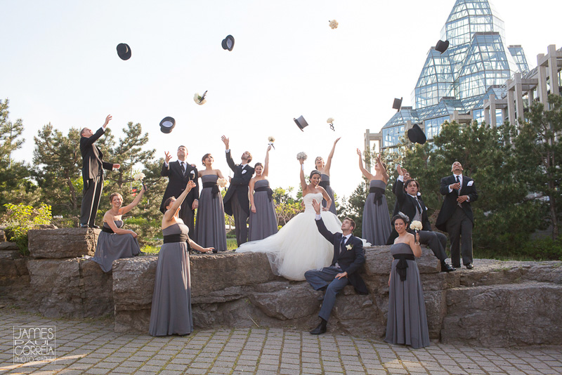 Ottawa National Art Gallery of Canada Wedding bridal party photo