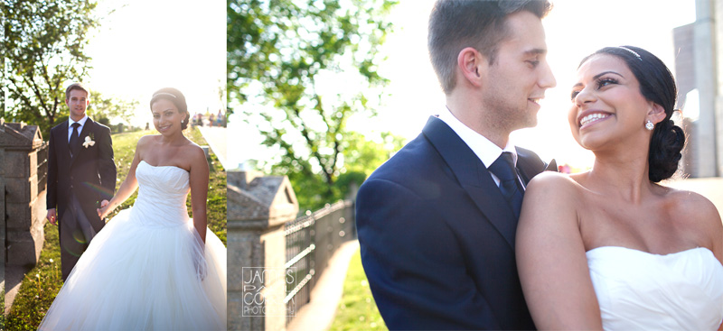 Ottawa golden hour sun creative Wedding Photography