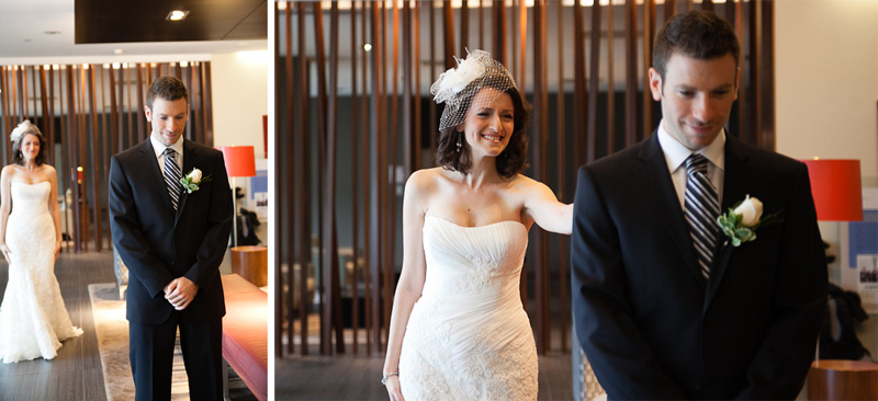 novotel montreal Wedding Photography first look