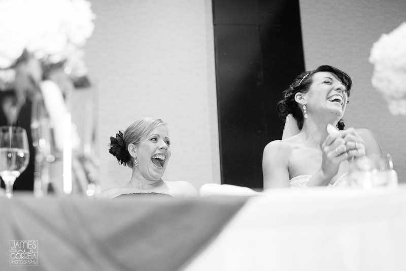 Blue Mountain Collingwood Wedding Photography speech reaction