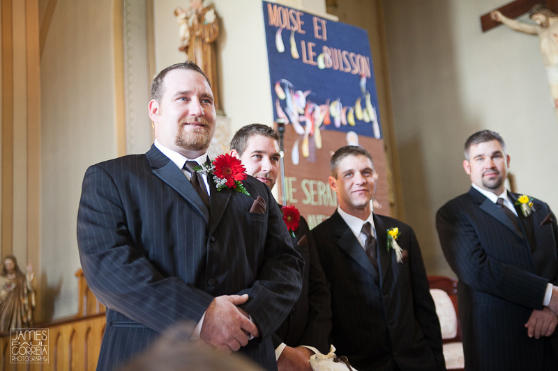 Huntingdon Saint Joseph's Catholic Church groom reaction