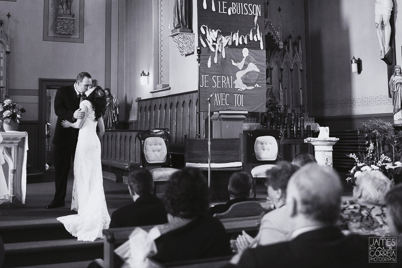 Saint Joseph's Catholic Church first kiss wedding