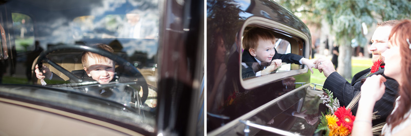 Huntingdon vintage wedding car Wedding Photographer
