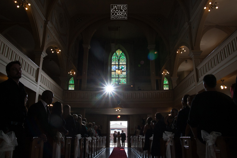 Huntingdon Saint Joseph's Catholic Church bridal entrance Wedding Photographer