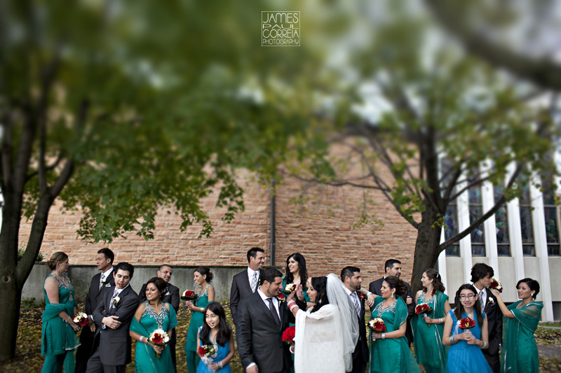Toronto indian italian bridal party Kaveri Kollections photography