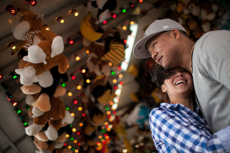 fair amusement carnival engagement session