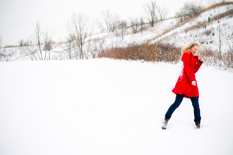 evergreen brickworks toronto engagement photography 010 snowball hit
