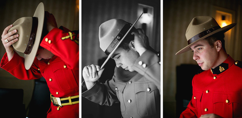 Hudson Wedding Photographer Mountie getting ready