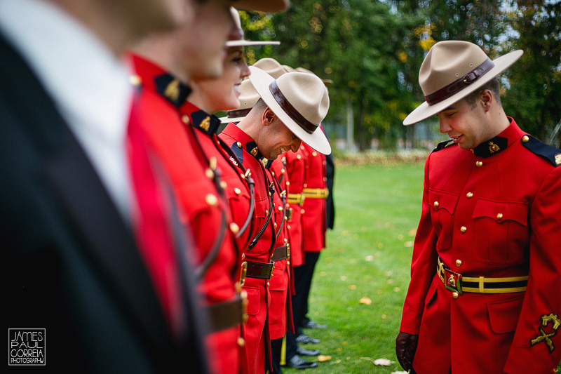 Canadian Mounted Police Wedding Photographer