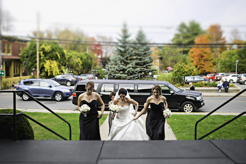 St Thomas Aquinas Church Hudson Wedding Photographer bride entrance