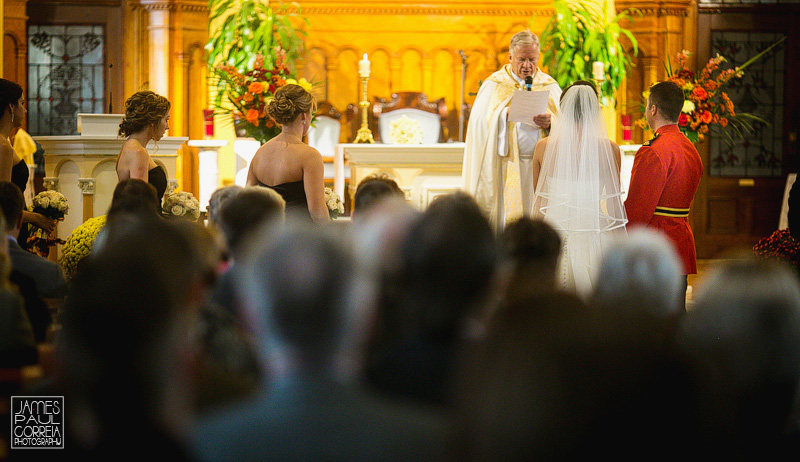 St Thomas Aquinas Church Ceremony Wedding Photographer