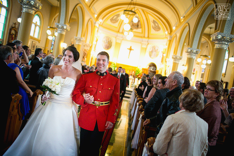 St Thomas Aquinas Church Hudson Wedding Photographer end of ceremony