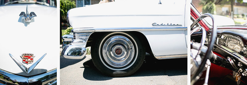 Montreal vintage cadillac Wedding Photographer
