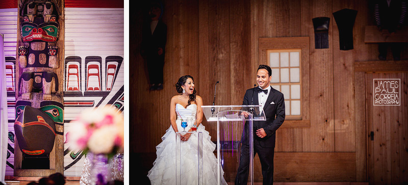 museum of civilization reception Wedding Photographer bride and groom speech