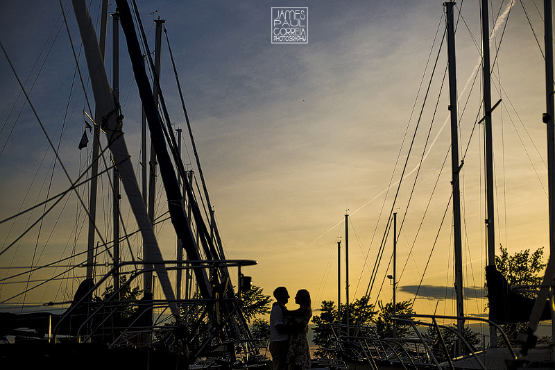 Beaconsfield Yacht Club Sunset Engagement photo
