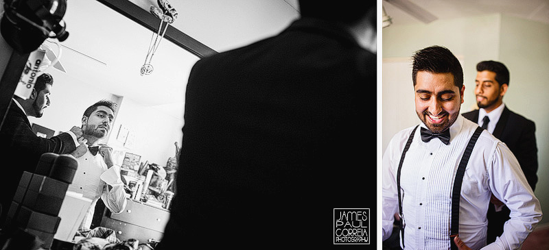 Wedding Photographer in montreal groom dressing