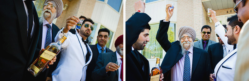 groomsmen taking shots Montreal Wedding Photographer