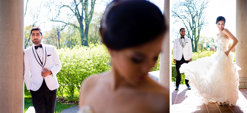 Bridal photo session at Stewart Hall Art Gallery