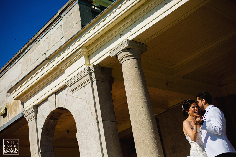 Bride and groom session at Stewart Hall Art Gallery