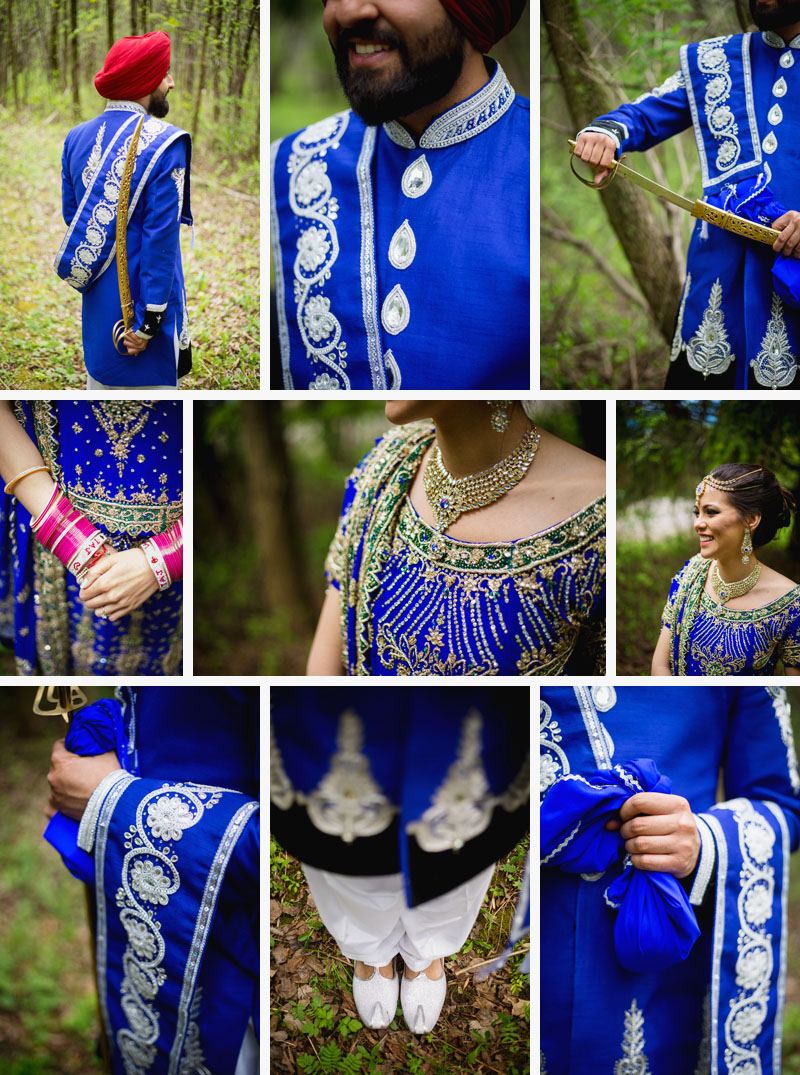 Montreal Wedding Photographer Sikh outfit details