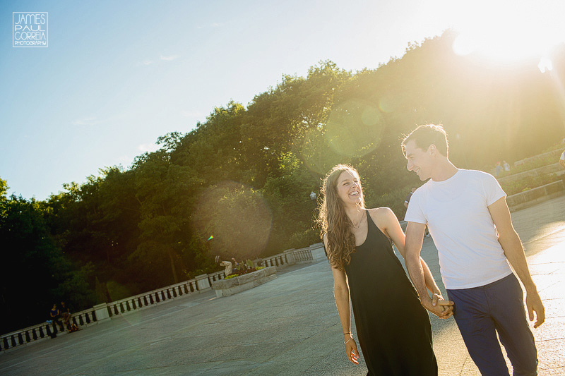 Montreal Mont Royal Lookout Engagement Photographer