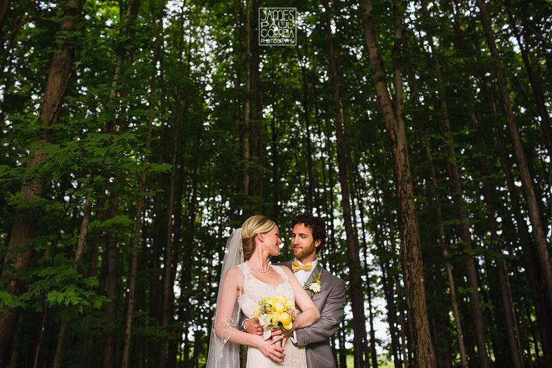 Bromont Wedding Photographer forest portraits