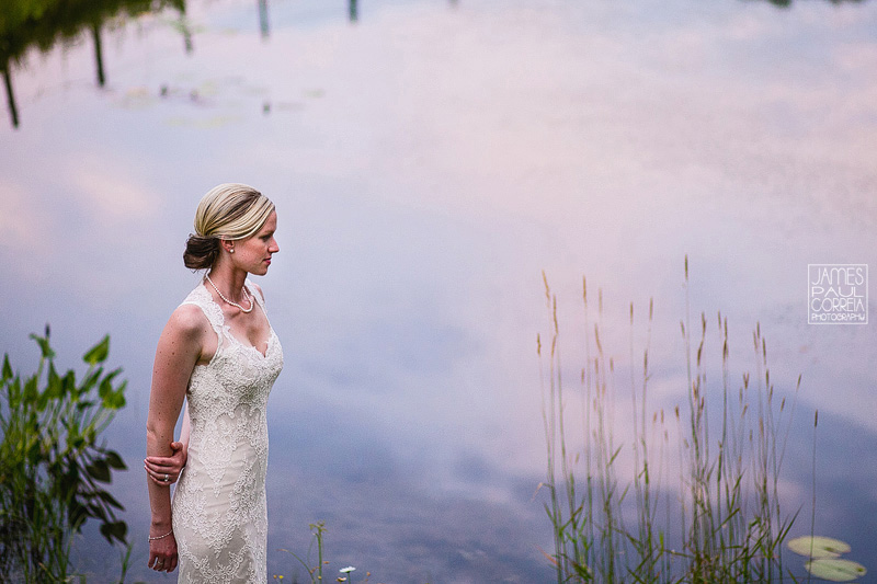 Wedding Photography bride over the lake