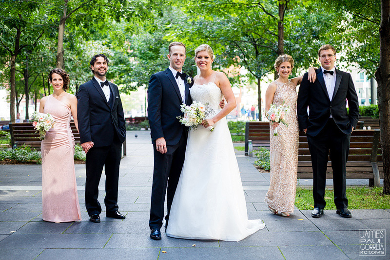 old montreal wedding photographer bridal party portraits
