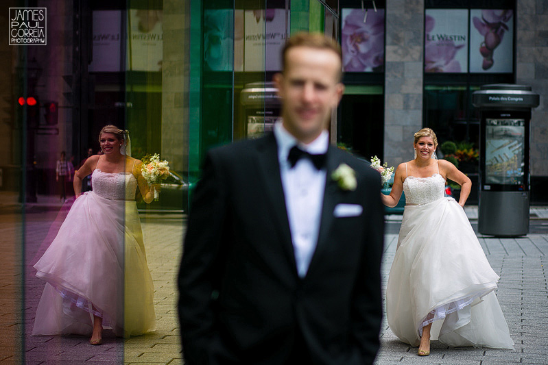 first look montreal wedding photographer