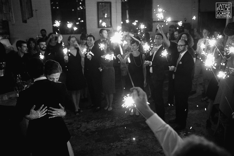 wedding first dance with sparklers