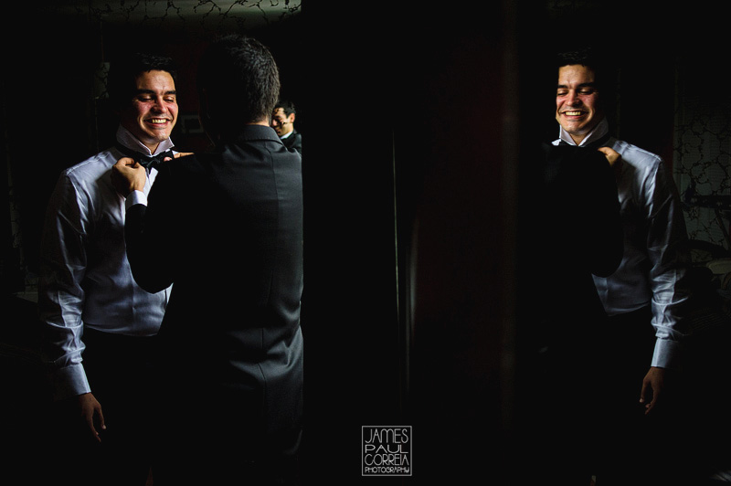 montreal wedding photographer groom getting ready