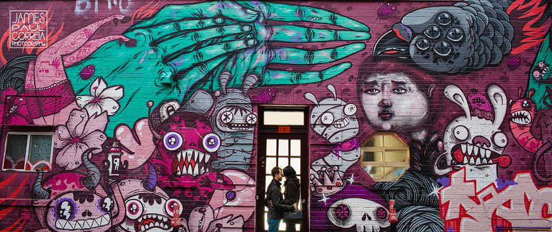 montreal graffiti engagement photographer