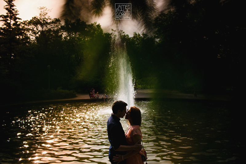 outremont park engagement photographer