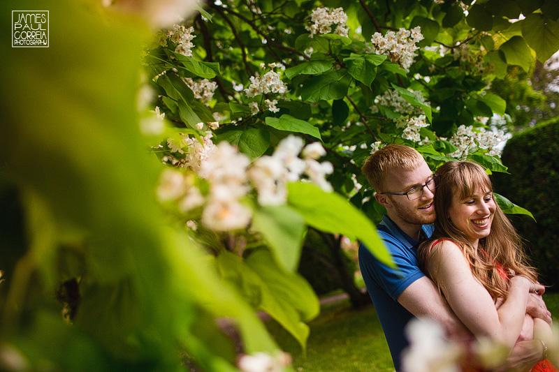 montreal botanical gardens engagement photography