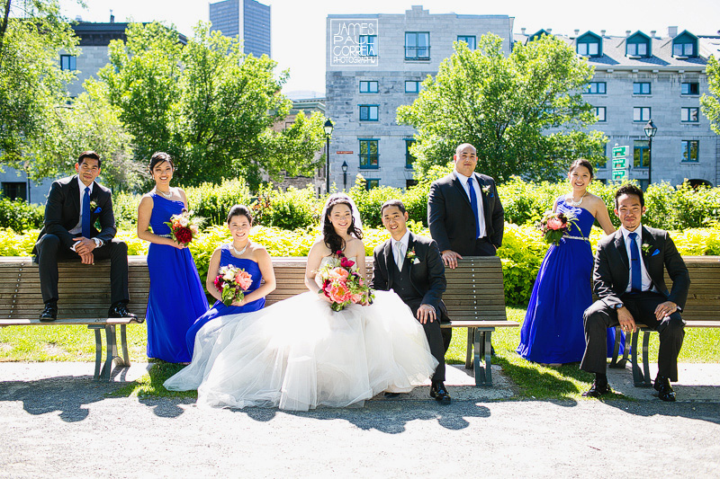 old montreal bridal party photographer