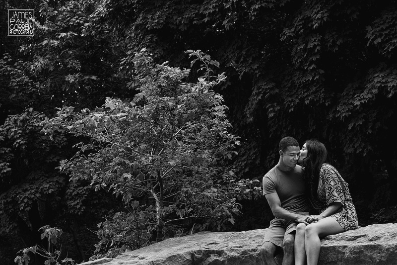 parc mount royal engagement Photographer