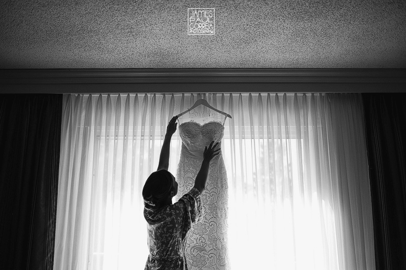 Chateau Vaudreuil wedding dress photographer